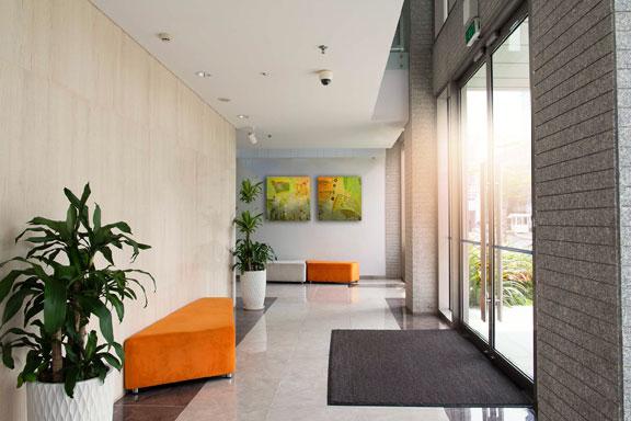 Eingangsbereich Fußbodenmatte Bürogebäude